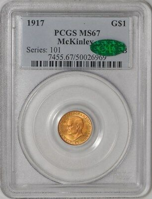 1917 $ McKinley Gold Dollar #50026969 MS67 PCGS ~ CAC