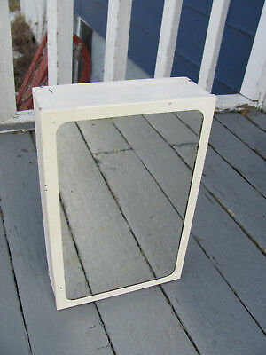"Vintage Wall Mount Mirrored Metal Medicine Bathroom Cabinet 11"" by 17"""
