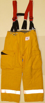 36x30 Firefighter Pants Bunker Fire Turn Out Gear Yellow Morning Pride P855