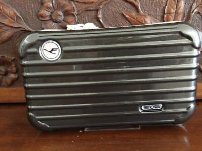 RIMOWA Lufthansa First Class Amenity Kit NEW Cocoa Brown Color Gents Small Scuff