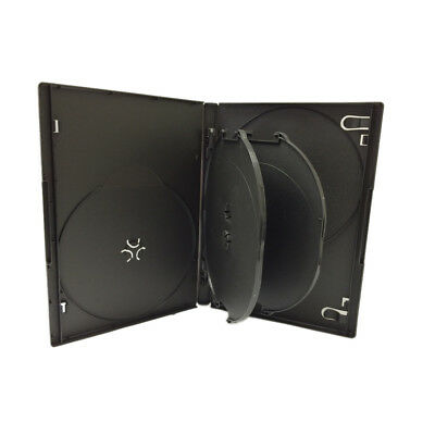 1 Black Standard 14mm 6 Disc CD DVD Storage Box Case with 2 Trays