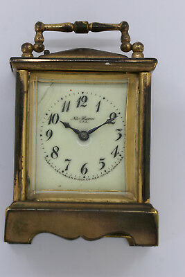 Antique Small Brass New Haven Carriage Clock - Parts/ Repairs - No Reserve