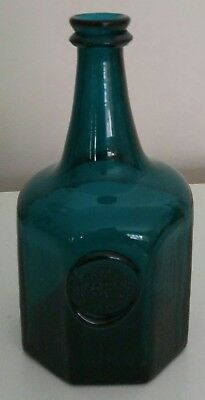 Collectible Reproduction Jno Greenhow Williamsburg Seal Bottle Teal Green