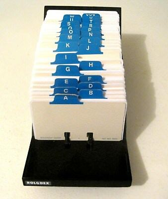Vintage Rolodex V-Glide #gl-24 With Blank  Cards And A-Z Dividers