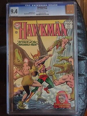 HAWKMAN #7 CGC NM 9.4; OW-W; Attack of the Crocodile-Men!