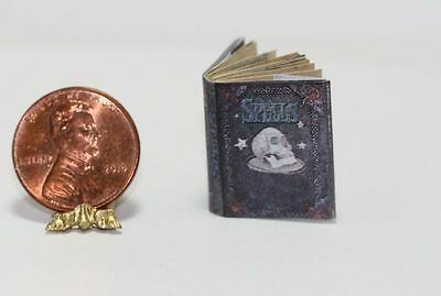 Miniature dollhouse Halloween witch spell book Barbie 1//12 Scale  Book of spells