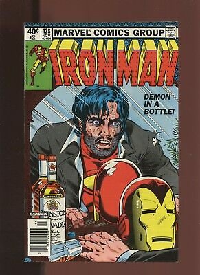 Iron Man 128 VF 8.0 * 1 Book Lot * Demon in a Bottle!!! Alcohol!! Key Issue!!