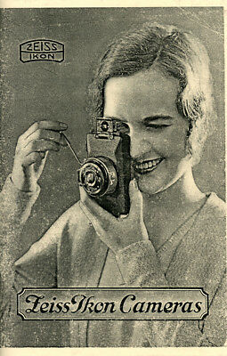 Zeiss Ikon Cameras 1931 Quality Reprint 52 Pages   Free Shipping!