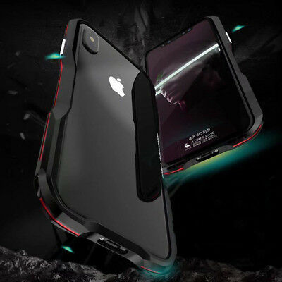 LUPHIE Aluminum Metal Bumper Case Shockproof Armor For iPhone X/8/7 Plus/XS Max