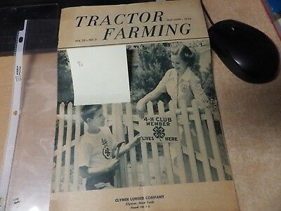 Vintage Tractor Farming Magazine Catalog May June 1952 International Harvester