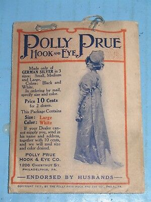 1911 Polly Prue Hook & Eye Full Package with Beautiful Woman In Dress WOW