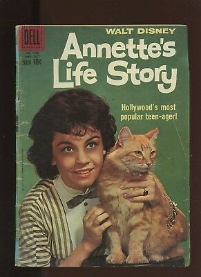 Four Color 1100 GD/VG 3.0 *1 Book* Annette's Life Story! 1960 Dell! Photo-Cover!