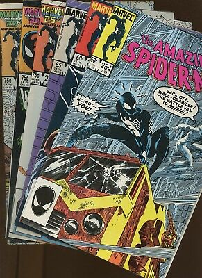 Amazing Spider-Man 254,255,264,278,279,280 ~ 6 Book Lot * 1st Black Fox!