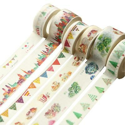 Herb Series DIY Washi Paper Decorative Sticky Paper Masking Tape Self Adhesive