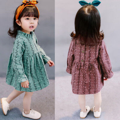Toddler Baby Girl Princess Tutu Dress LongSleeve Spring Casual Party Dress Child