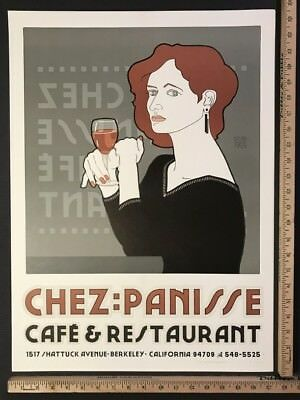 David Lance Goines SIGNED (#35/300) CHEZ PANISSE [RED-HAIRED LADY] (#117) 1985