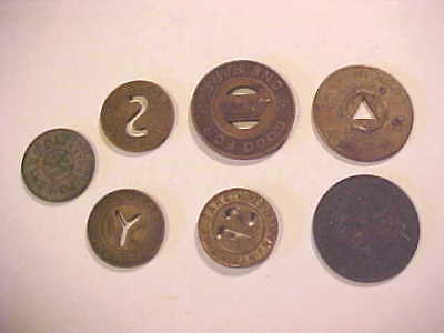 Group Of (7) Vintage Tokens - Transportation, Sales Tax Etc ~ #2 See List