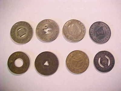 Group Of (8) Vintage Tokens - Transportation, Welfare, Sales Tax ~ See List