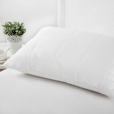 NEW PREMIUM LUXURY WOOL WASHABLE SURROUND PILLOW with Hollowfiber Bed Soft Fiber