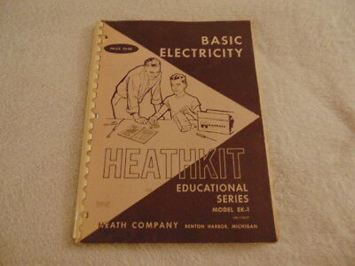 BASIC ELECTRICITY HEATHKIT Vintage Electronics Course Step-by-Step Inst 1959