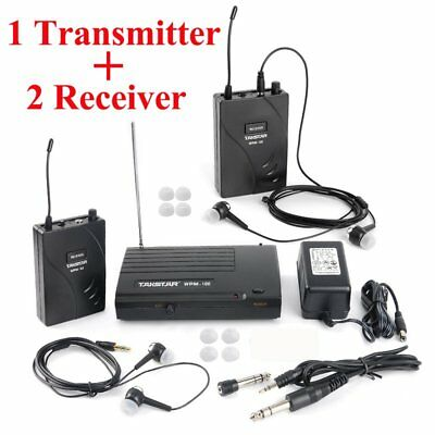 Takstar WPM-100 In-Ear Stage Wireless Monitor System 1 Transmitter + 2 Receivers