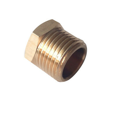 """1/4"""" BSPP Hex Head Plug Fitting Connector  Brsss Pipe Fitting"""