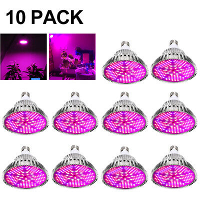 100W E27 LED Grow Light Bulbs Full Spectrum Blue&Red and IR+UV LED Growing Lamps