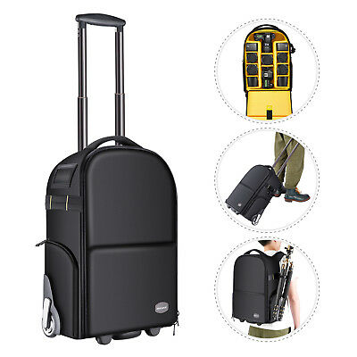 Neewer 2-in-1 Anti-shock Camera Backpack Luggage Trolley Case with Double Bar