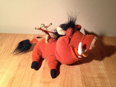 Disney The Lion King PUMBAA W/ PLASTIC RIDE ON TIMON 7""
