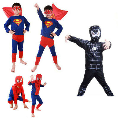 Boy Kids Children Superhero Fancy Dress Costume Spiderman cosplay costume Outfit  sc 1 st  PicClick UK & BOY KIDS CHILDREN Superhero Fancy Dress Costume Spiderman cosplay ...