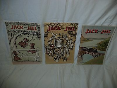 Vintage Jack And Jill Books 1943-1958 3 Total