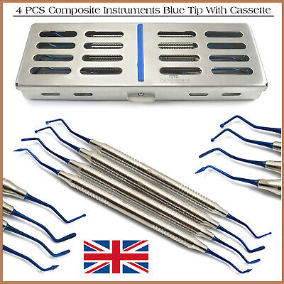 Dental Composite Restorative Amalgam Filling Set With Stainless Cassette 4 PCS
