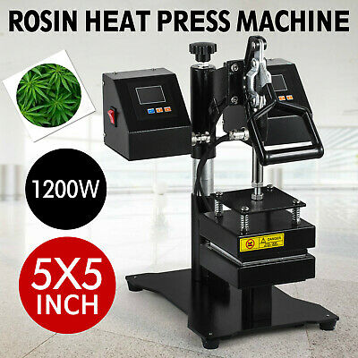 "5"" x 5"" New Dual Heating Elements Manual Rosin Heat Press Machine"