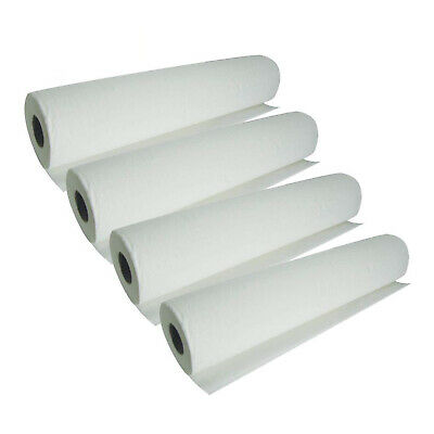 4 Pack Quality White Hygiene, Couch Rolls 40m x 50m x 4 FREE NEXT DAY DELIVERY