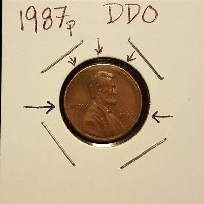 1987-P Lincoln Memorial cent..Circulated..Doubled Die Obverse..See pictures!!