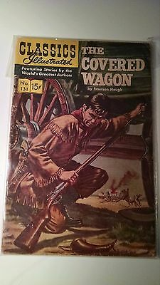 The Covered Wagon Comic Classics Illustrated #131