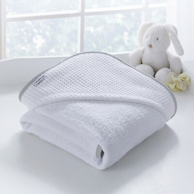 Clair De Lune Grey Over The Moon Super Soft Baby Unisex Hooded Bath Time Towel