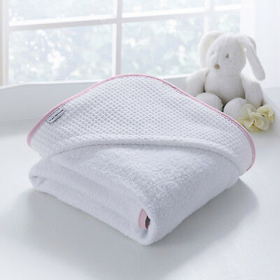 Clair De Lune Pink Over The Moon Super Soft Baby Girls Hooded Bath Time Towel
