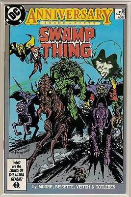 Swamp Thing #50 Vf/nm Dc 1986 1St Justice League Dark Key Issue Alan Moore