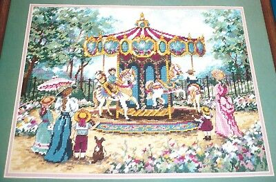 A RIDE IN THE PARK * Vintage 1994 * Needlepoint Canvas Kit * Carousel