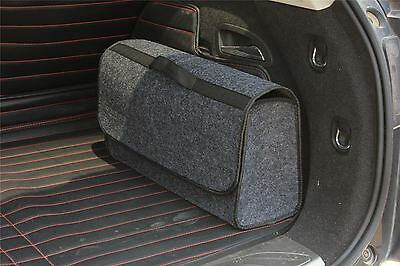 Vinsani Grey Large Anti Slip Car Trunk Boot Storage Organiser Case Tool Bag