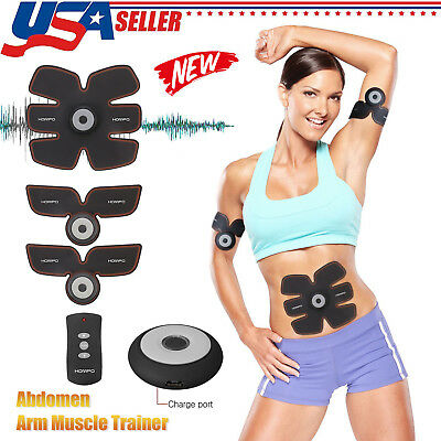 Ultimate ABS Stimulator EMS Remote Control Abdominal Muscle & Arm Exercise USA