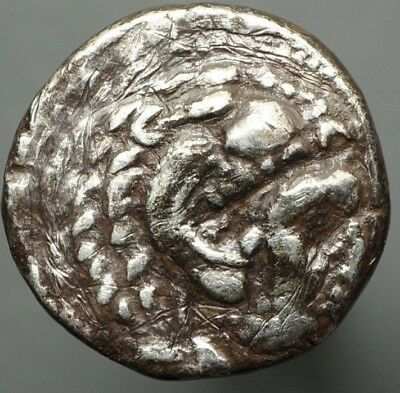MACEDONIA. Alexander the Great Silver Drachm 356-323 BCE Ancient Greek Coin