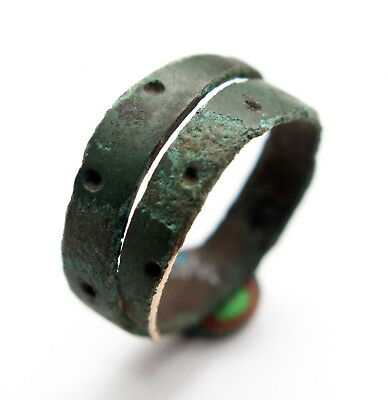 Ancient Spiral Bronze Finger Ring (MAR02)