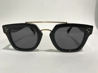 Celine CL 41077/S 807 BN  Pilot Black Sunglasses Made in Italy Authentic