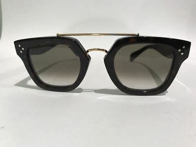 a3e1f2748177 Celine CL 41077 S 086 Z3 Pilot Havana Brown Sunglasses Made in Italy  Authentic