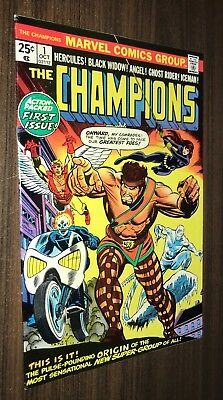 CHAMPIONS #1 -- October 1975 -- Ghost Rider / Black Widow -- VF Or Better