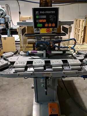 Kent Pp150 Two Color Pad Printer With 12 Station Race Track