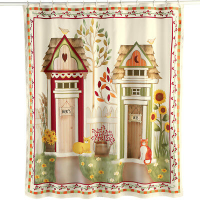 COUNTRY HIS AND Hers Outhouse Shower Curtain, by Collections Etc ...