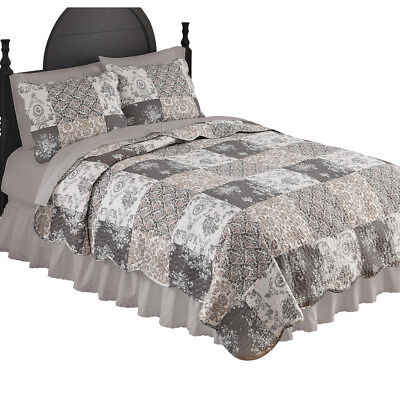 Tessa Patchwork Bedroom Quilt, by Collections Etc